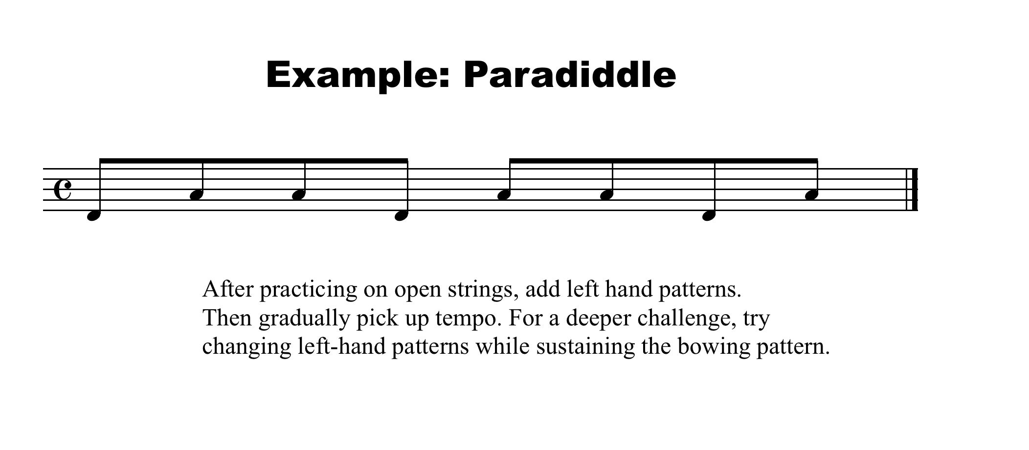 Paradiddle Example